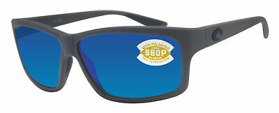 03d1b94837e39 Costa Del Mar Cut Matte Gray Frame Blue Mirror 580P Plastic Polarized Lens  • 112.77