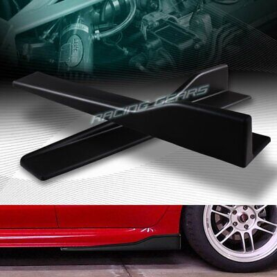 $22.95 • Buy 2pc Universal Black Side Skirt Rocker Splitters Winglet Canard Diffuser 23.5 X4