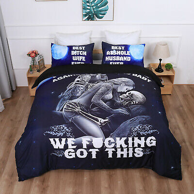 Skull Ghost Duvet Cover With Pillow Cases Quilt Cover Bedding Set All Sizes • 27.54£