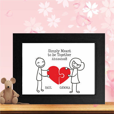 Stick People, Proposal, Wedding, Engagement Couple, Lovers, Print Present Gift • 3.95£