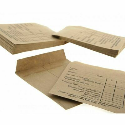 £1.99 • Buy Printed Wage Pay Packets Brown Self Seal Envelopes Cash Payment New