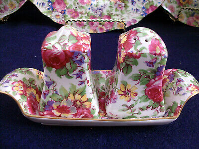 $ CDN98.99 • Buy Royal Winton Grimwades Summertime 1995- Salt & Pepper Set With Tray- Rare!!!