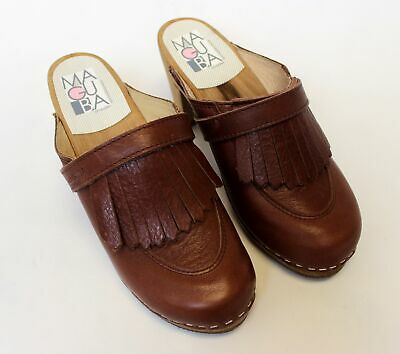 $99.99 • Buy BRAND NEW - Maguba Chicago Brown Leather Clogs -EU 37/US 6.5-MSRP$149