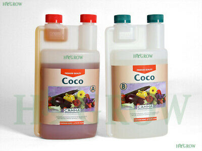 £18.95 • Buy Canna Coco A+B 1 Litre Veg And Flower Plant Food Base Nutrients GENUINE BOTTLES