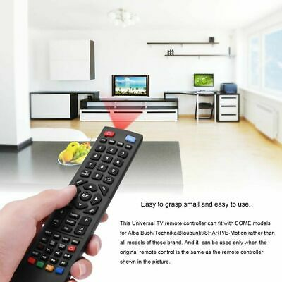 Universal Remote Control For Alba Bush/Technika/Blaupunkt/SHARP/E-Motion TV • 4.64£