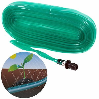 £3.99 • Buy 15m Flexible Perforated Garden Soaker Irrigation Hose Pipe Plant Lawn Watering