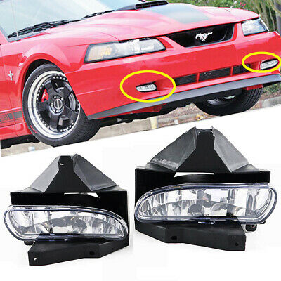 $28.90 • Buy Fit Ford Mustang 1999-2004 Clear Lens Bumper Fog Lights Lamp OE Replacement DOT