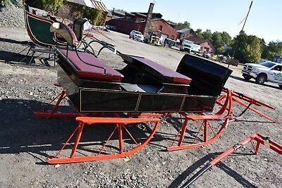 $2950 • Buy Restored Antique Bobsleigh With Shafts & Pole Horse Drawn Sled Equestrian