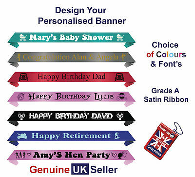 Wedding Banner / Personalised Just Married Congratulations Anniversary Banner 1m • 6.99£