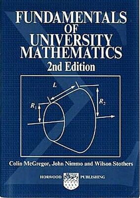 £9.99 • Buy Fundamentals Of University Mathematics (Albio... By Wilson W. Stothers Paperback