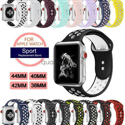 AU8.99 • Buy Apple Watch Band, IWatch Series 5 4 3 2 Sport Silicon Strap 44mm 40mm 42mm 38mm