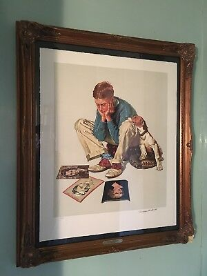 "$ CDN1720.07 • Buy Norman Rockwell ""Starstruck"" Signed, Limited Edition, Lithograph"