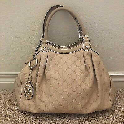 6f7ad5a1a7e GUCCI Sukey Guccissima Embossed Leather Tote Bag 211944   Dust Bag - AUTH  (5444)