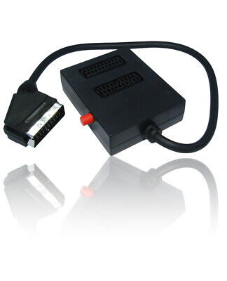 2 Way Switched SCART Cable Signal Splitter For Use With TV, DVD, Xbox, Freeview • 6.99£