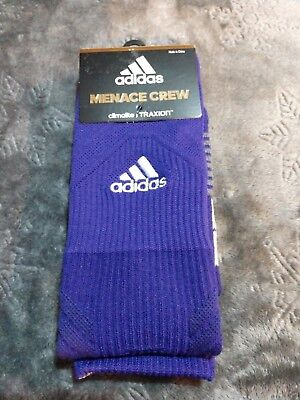 $10.99 • Buy Adidas Traxion Menace Crew Soccer Socks Purple Men's Size 6.5-9 **NEW**