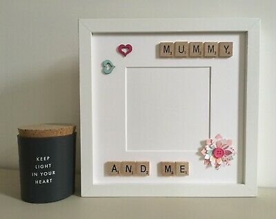 £26 • Buy (c) Scrabble Art Picture Photo Frame Mothers Day Mum Mummy Personalised
