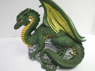 $19.95 • Buy Hand Painted Hand Made Ceramic Dragon 10 L X 8.5 Tall Inscription On Bottom 1999