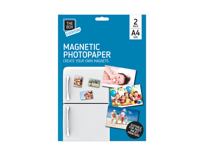 £2.99 • Buy A4 Magnetic Photo Paper 2 Sheets Pack Glossy Finish Inkjet Fridge Magnet Picture