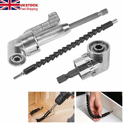 £7.69 • Buy Angle 105 °Right Angle Drill Flexible Extension Bit Kit For Drill & Screw 1/4
