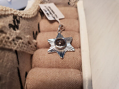 Artisan Crafted Black Rutile Quartz Star Pendant In Sterling Silver • 8.99£