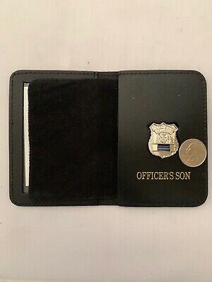Police Officer Thin Blue Line Officer Son   Mini Pin  ID Wallet • 19.54£