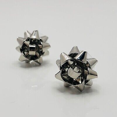 $ CDN51.09 • Buy Auth New KATE SPADE New York Bourgeois Bow Studs Silver Earrings Rare Sold Out