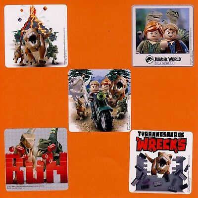 $11.50 • Buy 75 Lego Jurassic World - Large Stickers - Party Favors - Rewards - Dinosaurs