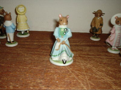 Franklin Mint 1985 The Woodmouse Family Winsome Porcelain Figurine • 1.99$