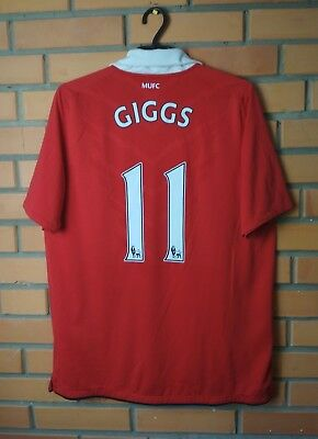 40928a826 Manchester United Home Football Shirt  11 Giggs 2010-2011 Size L Jersey  Nike •