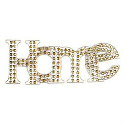 HOME Diamante Sparkle Champagne Wall Art With Jewels 46 X 18cm Quality Sign • 29.95£