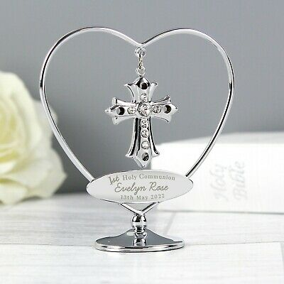 Personalised 1st Holy Communion Crystocraft Cross With Swarovski Elements • 17.99£