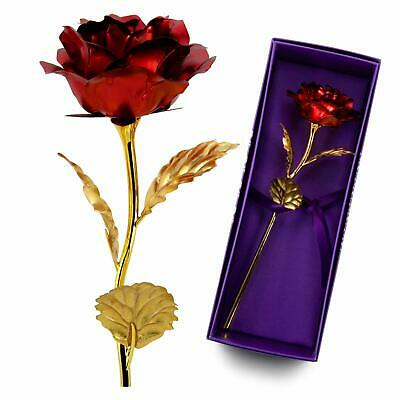 AU18.94 • Buy VALENTINE'S DAY Gift For Her US 24K Dipped Gold Foil Flower Rose Wife Mother NEW