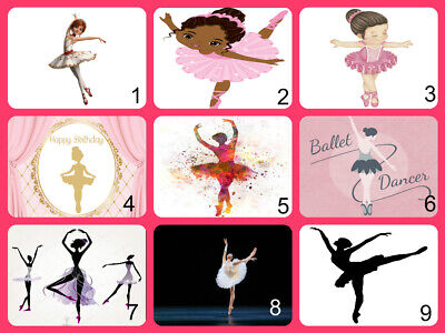 Personalised Edible Ballet Cake Topper Icing Or Wafer Paper • 6£
