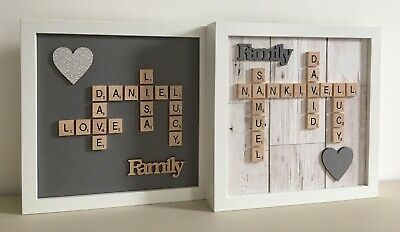 Scrabble Art Picture Frame Personalised Various Styles Any Occasion • 26£