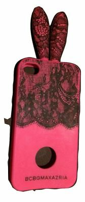 BCBG MaxAzria Pink Bunny Ears Lace Iphone 4 4S Silicone Case Cover Rabbit Easter • 8.27£