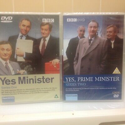 YES MINISTER SERIES 1 & 2 DVD  NEW & SEALED  Paul Eddington  • 10£