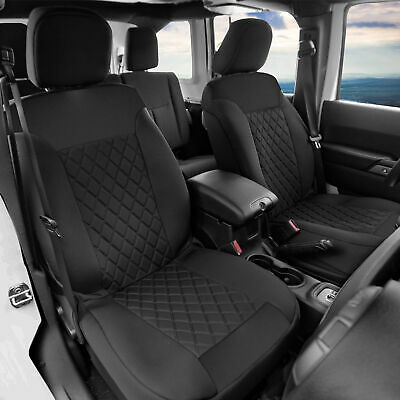 $48.99 • Buy Front Bucket Seat Covers Pair Neosupreme For Auto Car SUV Black