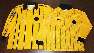 $29.99 • Buy (2) Soccer Referee Long Sleeve Jersey XL X-LARGE Official Sports Striped Yellow