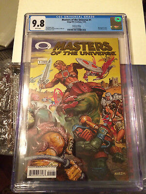 $175 • Buy Gold Foil Masters Of The Universe #1 CGC 9.8 New Case He-Man Image Wrap Cover