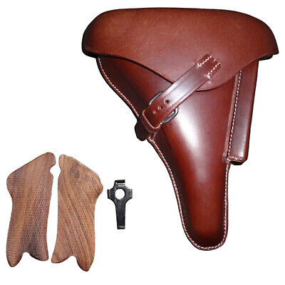 Leather Holster For WW2 P08 Brown W/Take Down Tool And Hand Grips (Repro) O408 • 51.19£