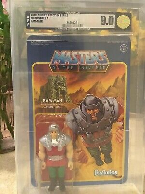 $125 • Buy RAM MAN ReAction Super7 3.75  Figure Funko Masters Of The Universe MOTU Graded 9