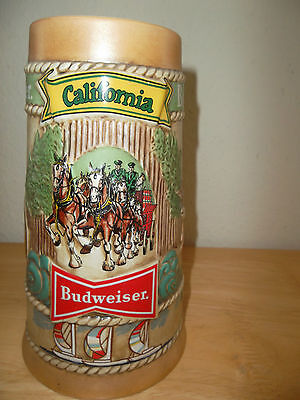 $ CDN39.21 • Buy 1981 Budweiser Beer Stein California Limited Edition CS-56 Clydesdales Hollywood