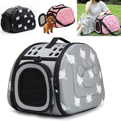 Large Pet Dog Cat Portable Travel Carry Carrier Tote Cage Bag Crates Box Holder • 18.65£