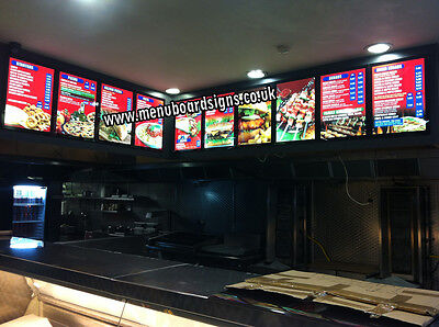 £210 • Buy A2 (650x470mm) LED Menu Board For Takeaways & Restaurants With Design & Graphics