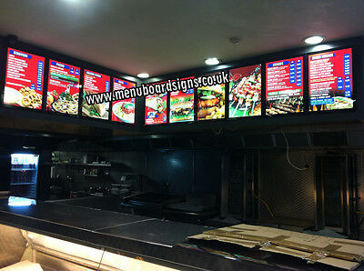 A2 Size LED Menu Board For Takeaways & Restaurants Including Design & Graphics • 195£