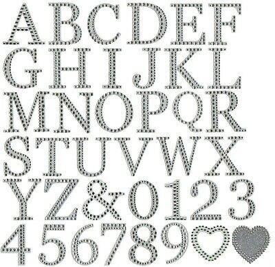 £0.99 • Buy Large Diamante Glitter Letters Numbers Stick On Alphabet Self Adhesive Craft 5cm