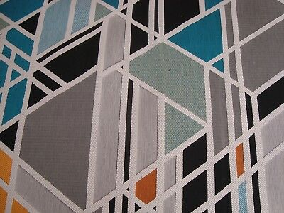 $9.99 • Buy One Remnant MAHARAM Geometric THE FIRM Unique Upholstery FABRIC 28  X 20  BTP