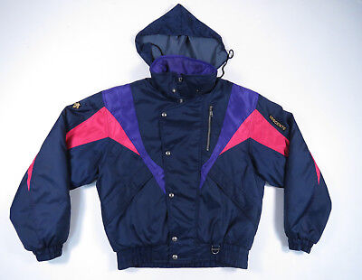 $79.99 • Buy NWOT Vintage 90s Descente Color Block Hooded Full Zip Ski Snowboard Jacket S