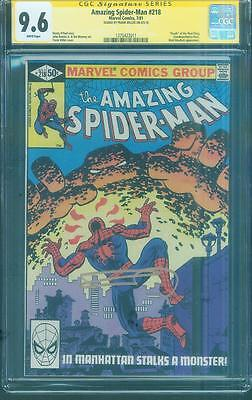 £181.55 • Buy Amazing Spider Man 218 CGC SS 9.6 Frank Miller Signed 81 Key Death Mud Thing