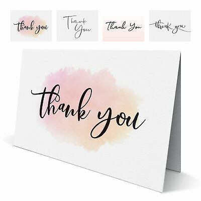 £3.99 • Buy Folded Wedding Thank You Cards - Pack Of 10